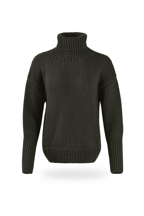 Rollkragen-Pullover Tanja, oliv