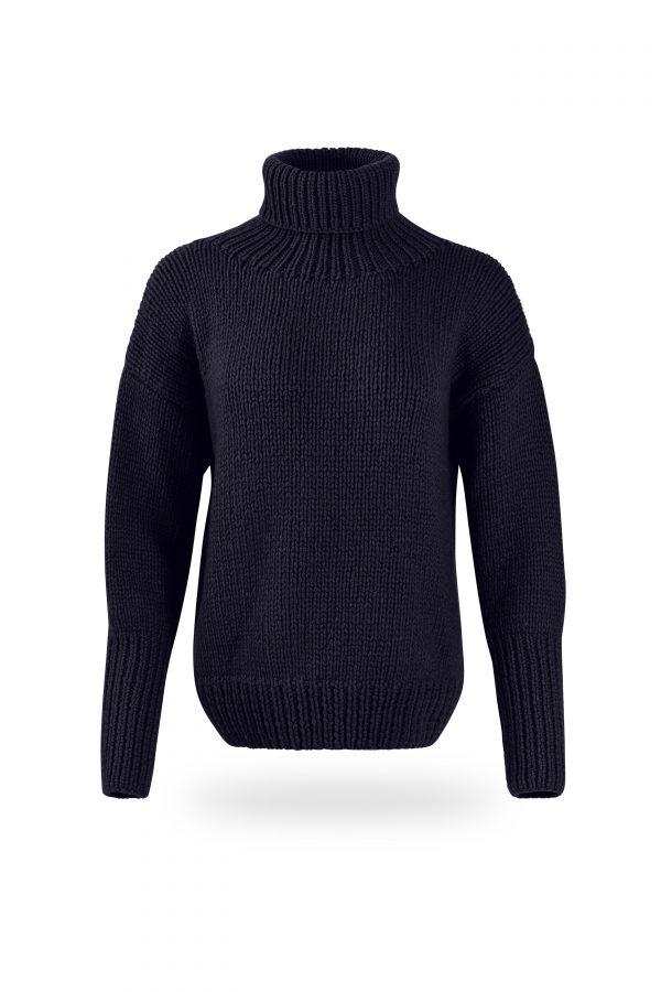 Rollkragen-Pullover Tanja, dunkelblau