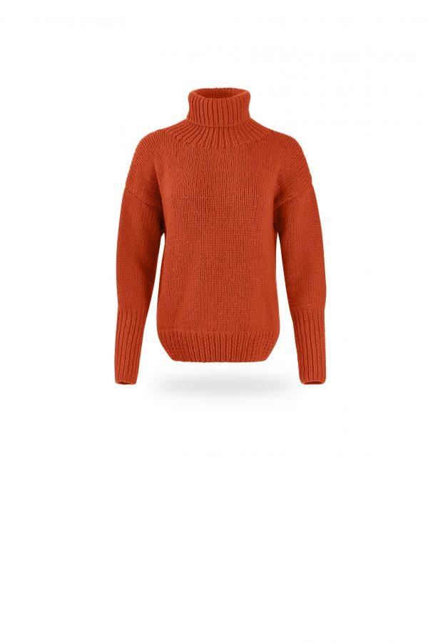 Rollkragen-Pullover Tanja, orange