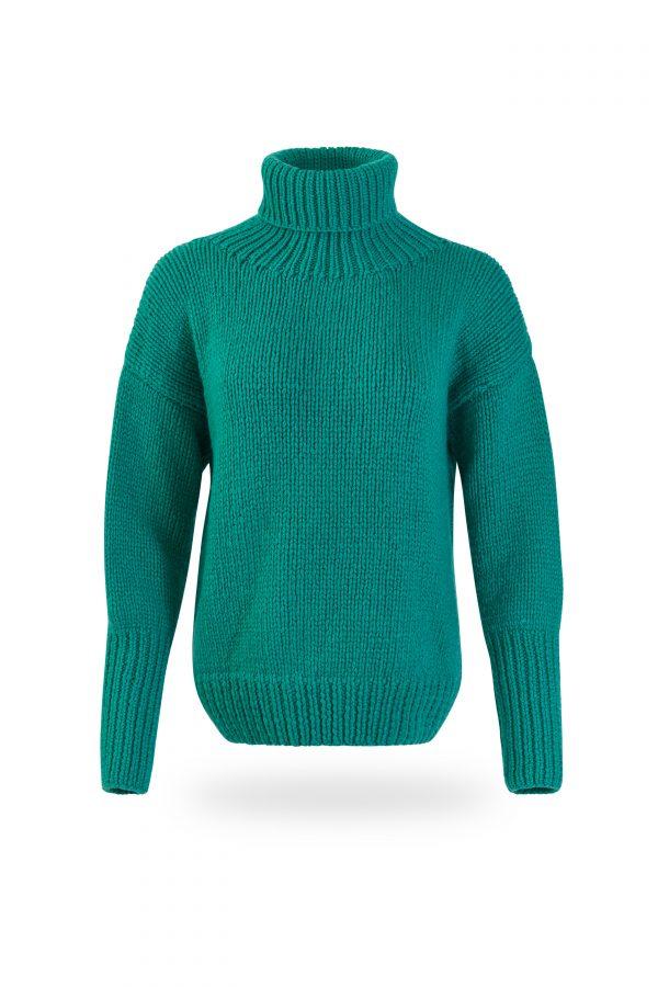 Rollkragen-Pullover Tanja, dunkelgrün