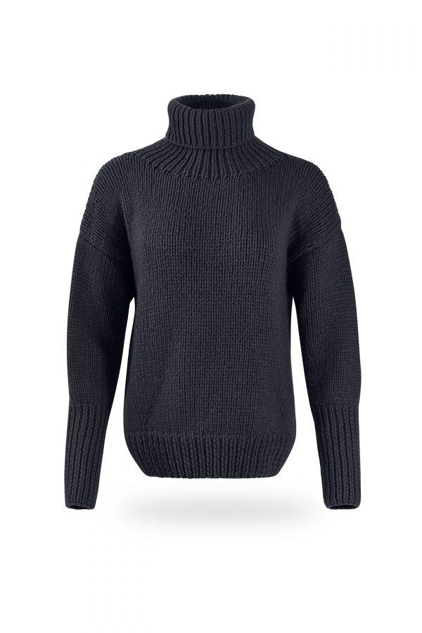 Rollkragen-Pullover Tanja, dunkelgrau
