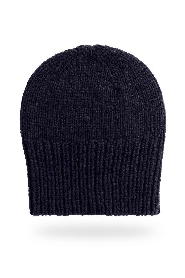 Mütze Sara mit breitem Bund, dunkelblau