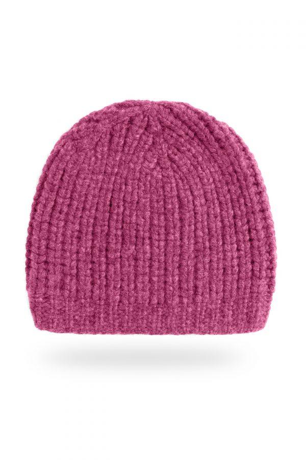 Mütze Caterina Patent gestrickt, pink