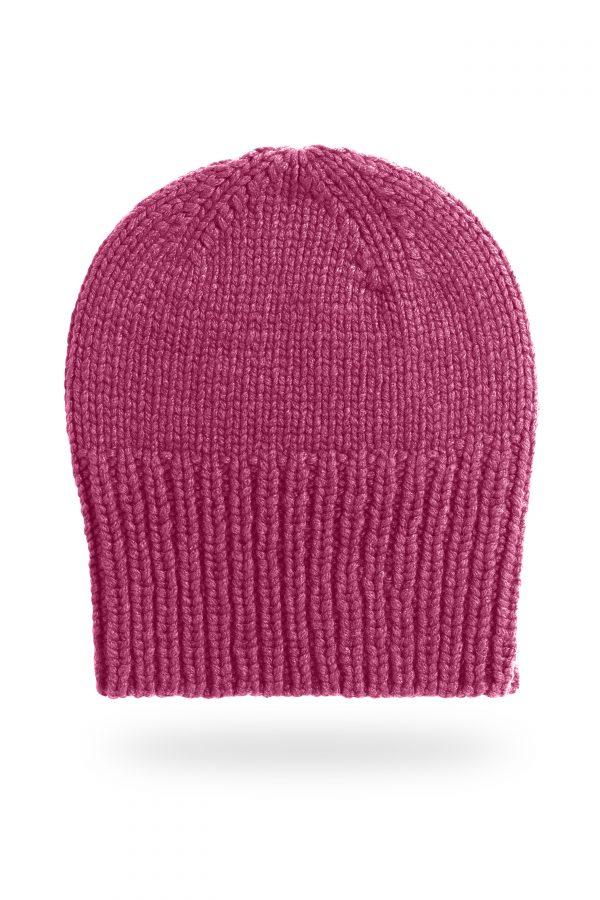 Mütze Sara mit breitem Bund, pink