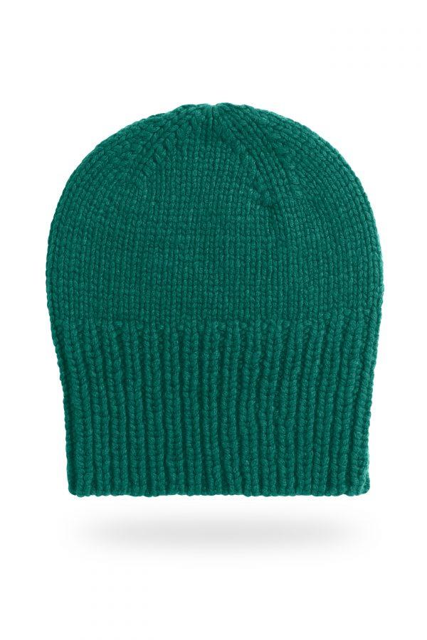 Mütze Sara mit breitem Bund, dunkelgrün