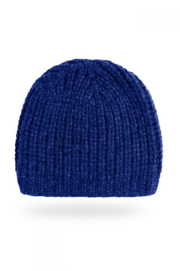 Mütze Patent-Strick Caterina, Kobalt