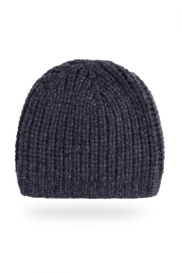 Mütze Caterina, dunkelgrau