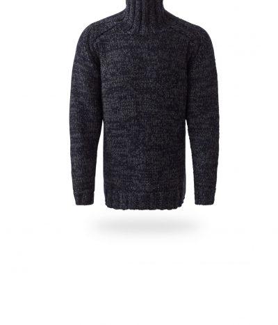 Rollkragen-Pullover Christoph, schwarz/grau, FS